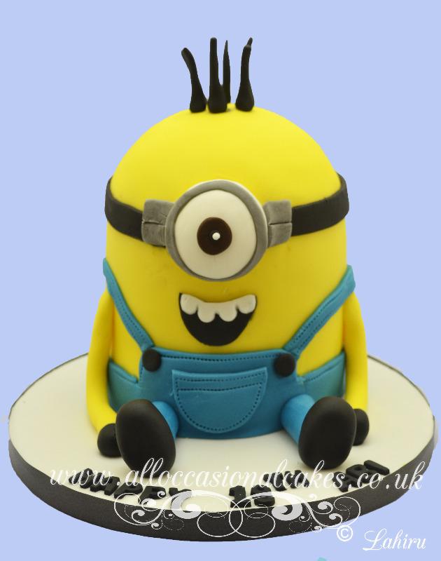 minion theme birthday cake