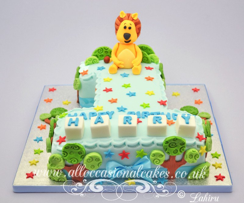 ra ra lion 1st birthday cake