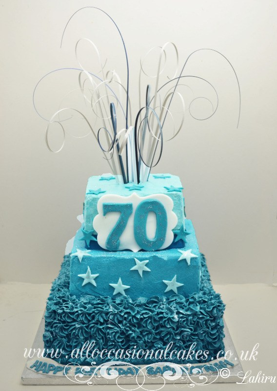 70th birthday buttercream cake