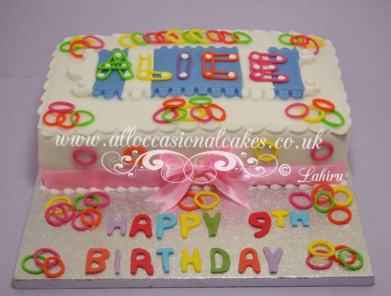 loom bands birthday cake