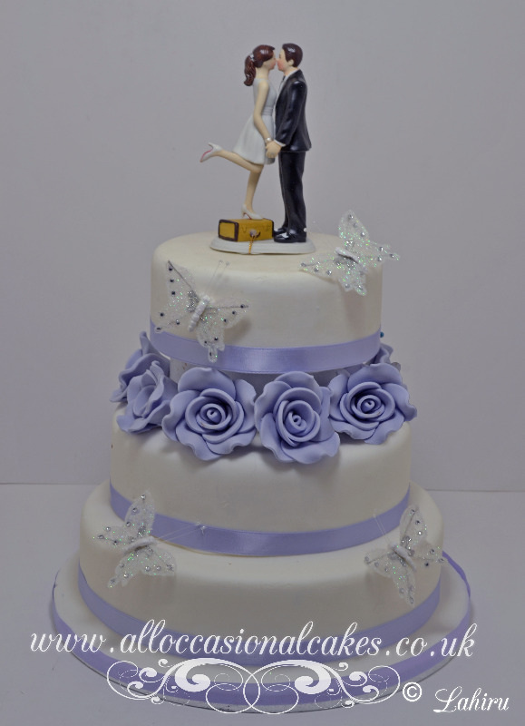 Purple Rose Wedding Cake £335