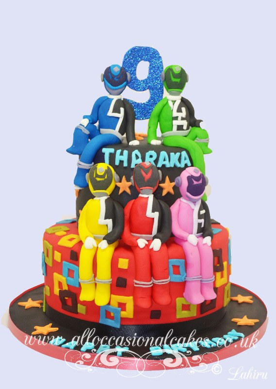power rangers birthday cake
