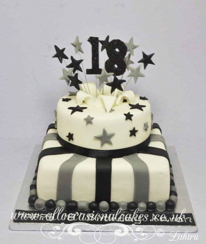 black and silva birthday cake
