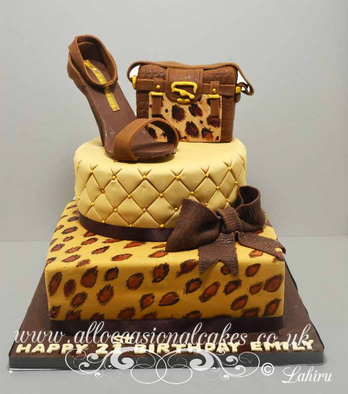 animal printe with shoe cake