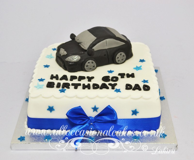 black sugar car cake