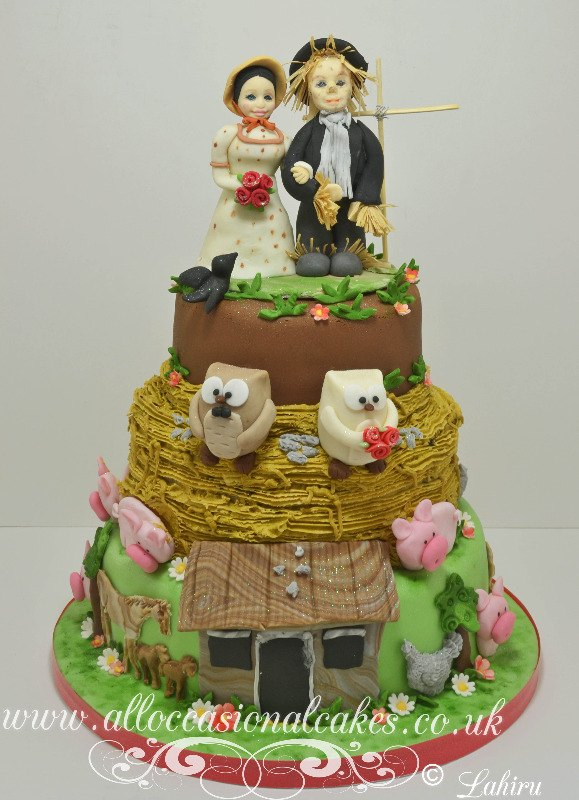 worzel gummidge and aunt sally wedding cake