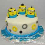 3 sugar minion birthday cake