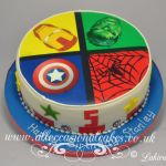 marvel themed edible picture cake