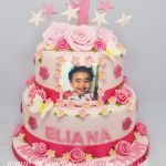 baby's photo on the cake