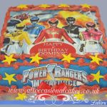 power rangers edible print cake