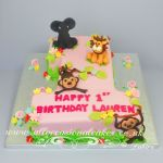 jungle themed no 1 cake