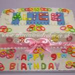 loom bands birthday cake
