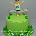 running man birthday cake