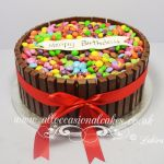 kit kat cake with smarties