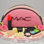 MAC pink wash bag cake