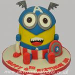 captain america minion cake