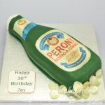 peroni beer bottle cake