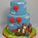 teddy bear family cake