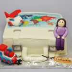travel themed birthday cake