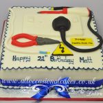 electrian themed cake