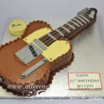 chocolate guitar birthday cake