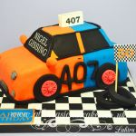 two colour car cake