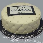 chanel paris birthday cake
