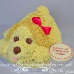 creamy colour doggy cake