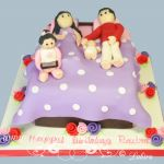 family bed cake