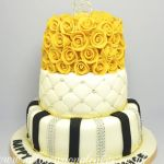 golden rose 18th birthday cake