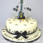 Sugar guitar topper birthday cake