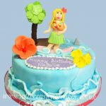 hawaiian girl birthday cake