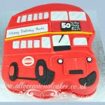 double decker bus cake