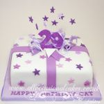 lilac parcel birthday cake