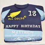 rugby t-shirt cake