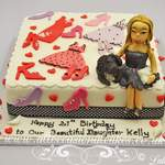 party dress and shoes cake