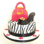shoe and handbag cake