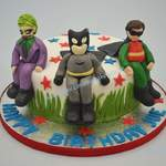 batman robin and joker cakes