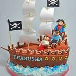 pirate ship birthday cake