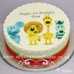 ra ra the lion with friends cake
