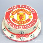 manchester united edible cake