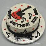 "music themed cake   £ 50 (8"")"