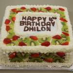 fresh fruit and cream birthday cake