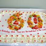 60 th fresh cream eggfree cake