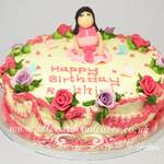 roses and frills birthday cake
