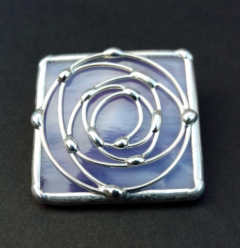 Square Swirl Rose Brooch