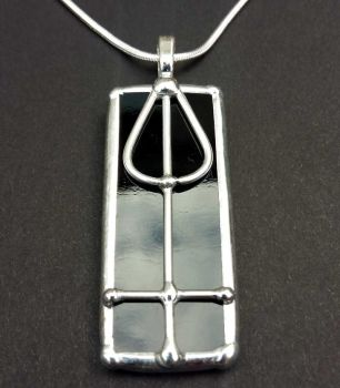 Charles Rennie Mackintosh Flower Bud & Squares Pendant