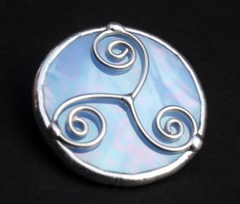 Celtic Triple Spiral Brooch