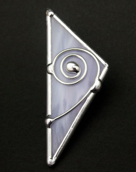 Celtic Single Spiral Three Sided Brooch