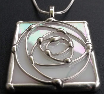 Square Swirl Rose Pendant